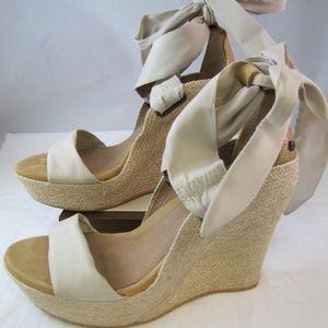 Ugg Jules Platform Wedge Espadrilles Sandals Sz 6
